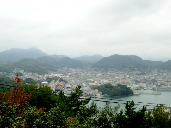 千光寺山からの眺め。