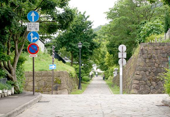 函館の石畳の道