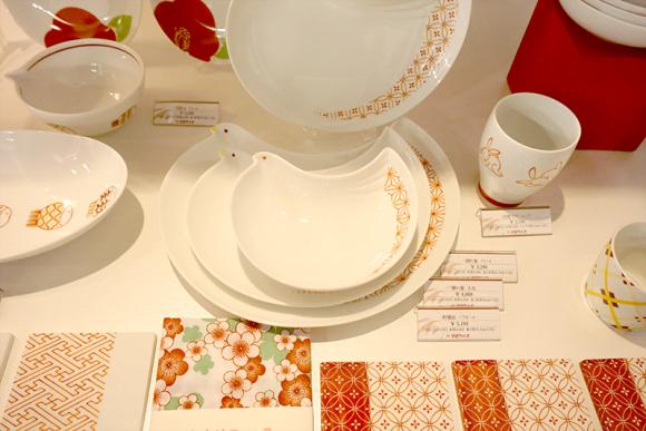 赤繪町工房の赤食器シリーズ