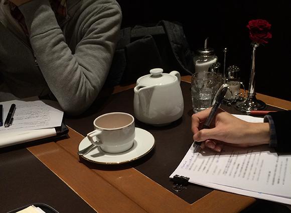 最近はカフェでの勉強会が増えました。