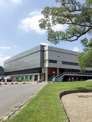 会場の愛知県体育館。大相撲名古屋場所でおなじみ。