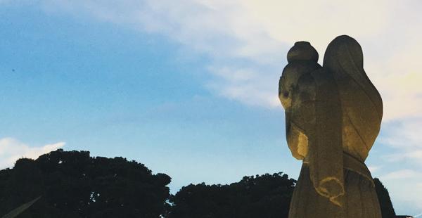 山下公園の像