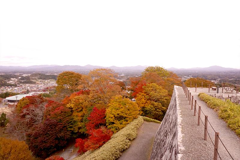 写真は福島旅行のもの。二本松城からの紅葉。
